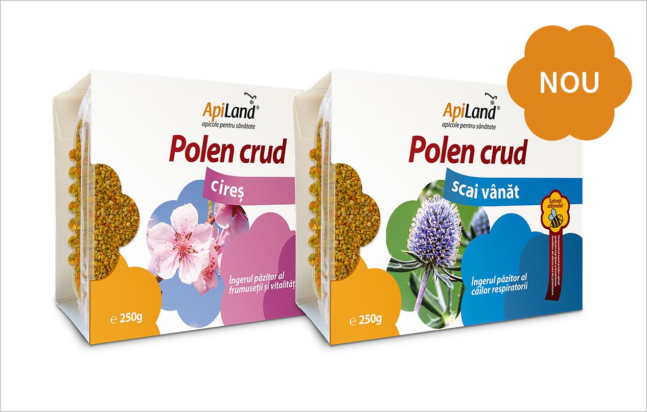 Polen crud de cireș și polen crud de scai vânăt ApiLand