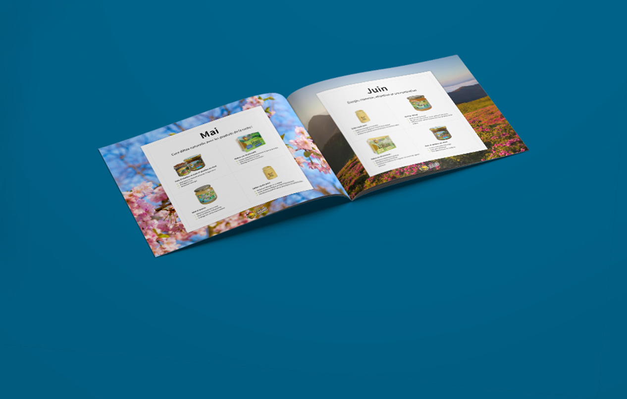 Calendrier des produits de la ruche