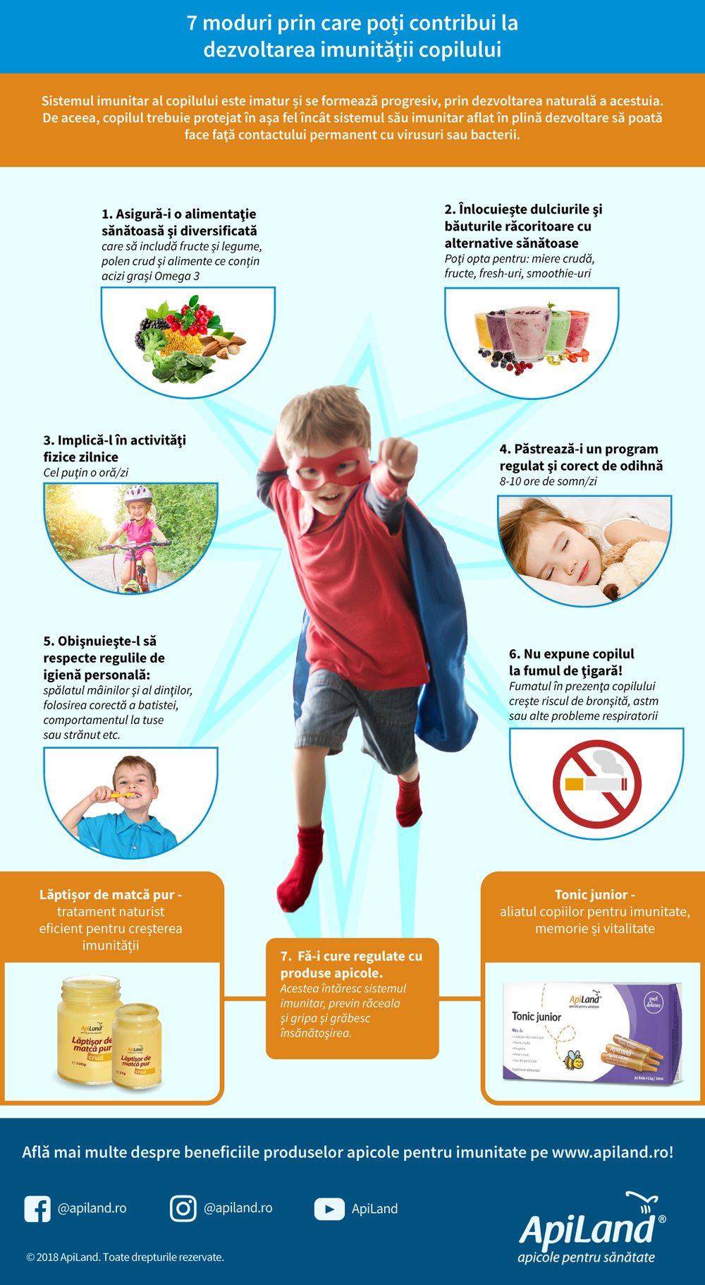 7 sfaturi pentru crestere imunitate copii