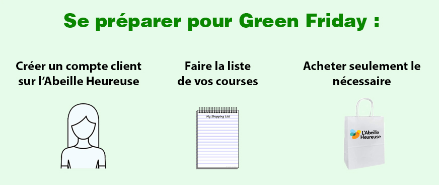 Se preparer pour green friday